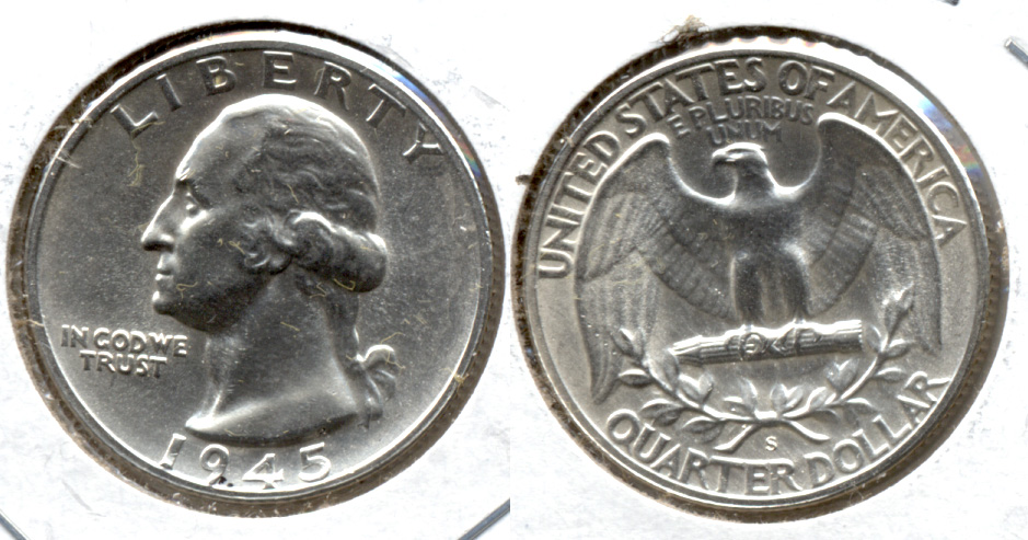 1945-S Washington Quarter MS-63 y