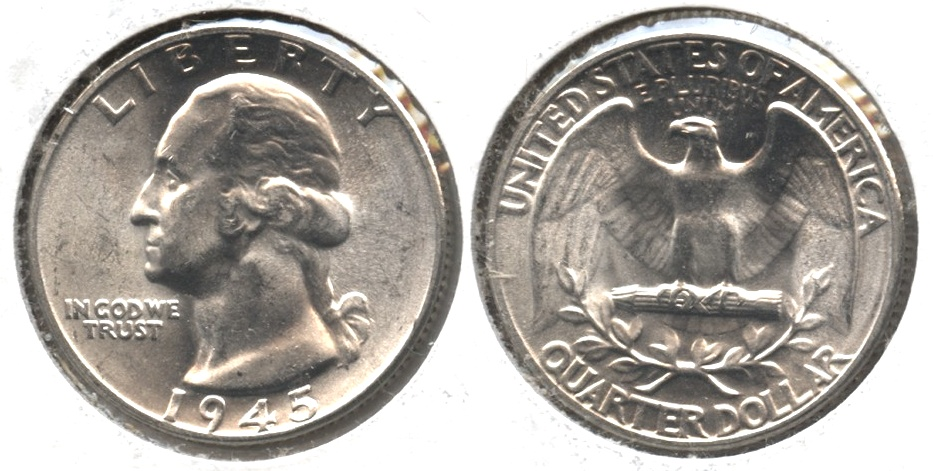 1945 Washington Quarter MS-63 #b