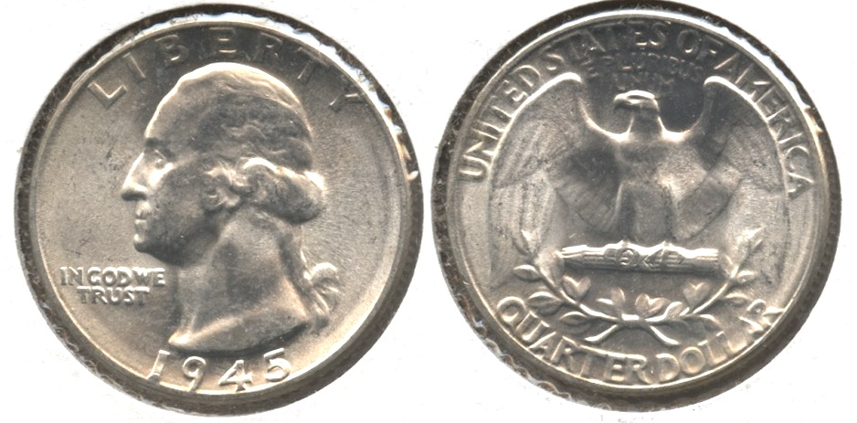 1945 Washington Quarter MS-63 #d
