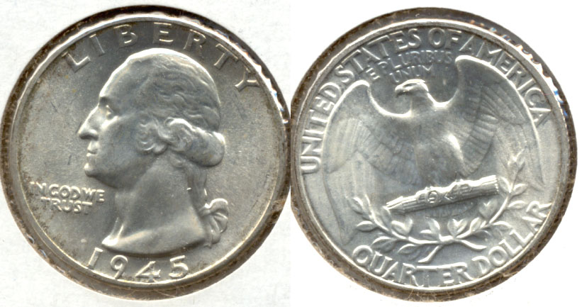 1945 Washington Quarter MS-64