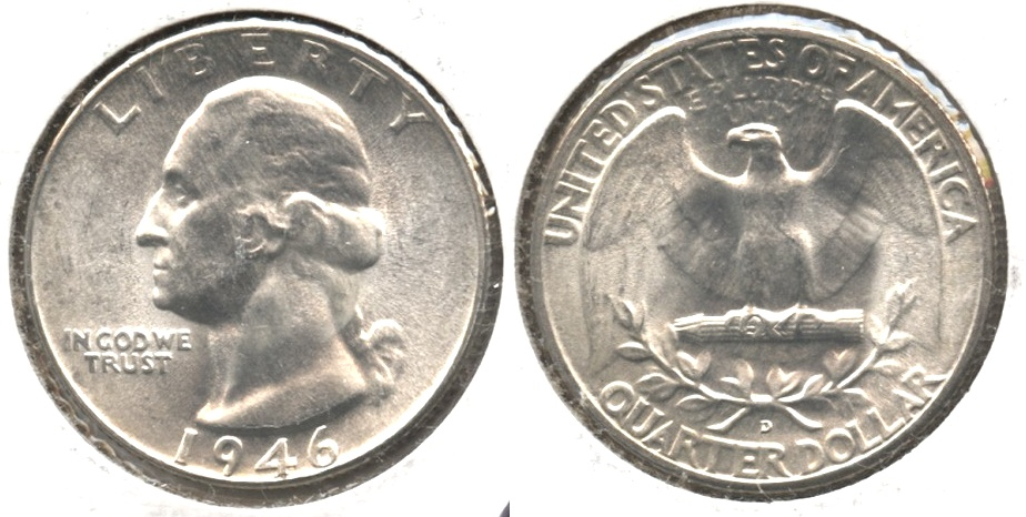 1946-D Washington Quarter MS-64
