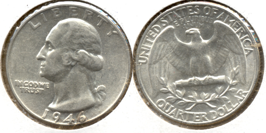 1946 Washington Quarter AU-50 a