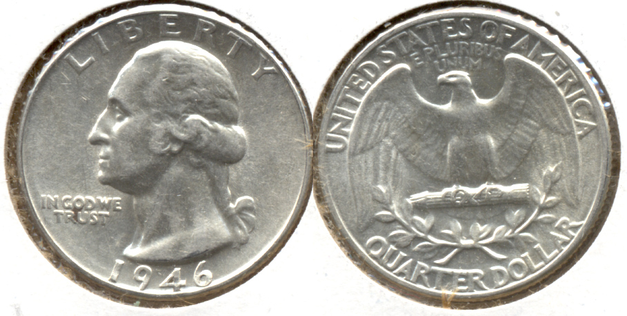 1946 Washington Quarter AU-50 c