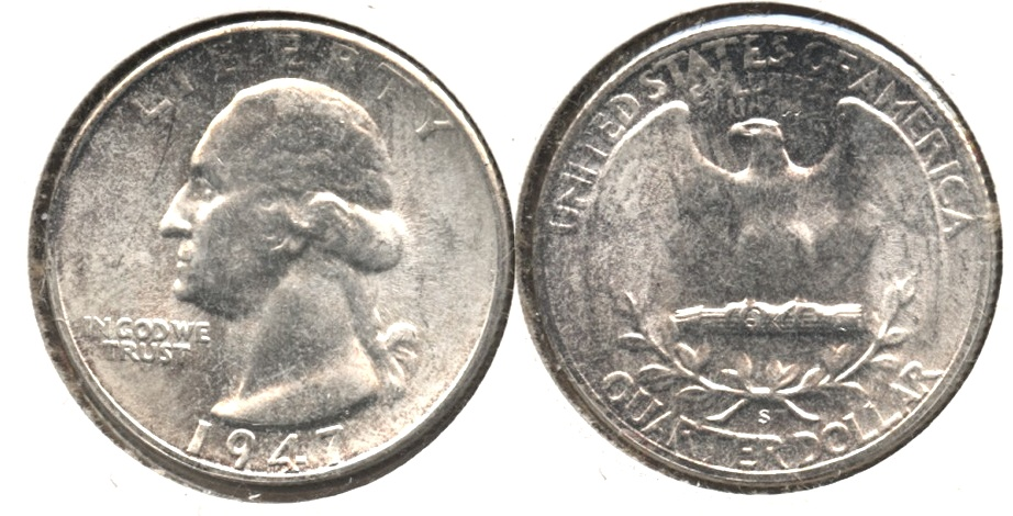 1947-S Washington Quarter MS-60 #a