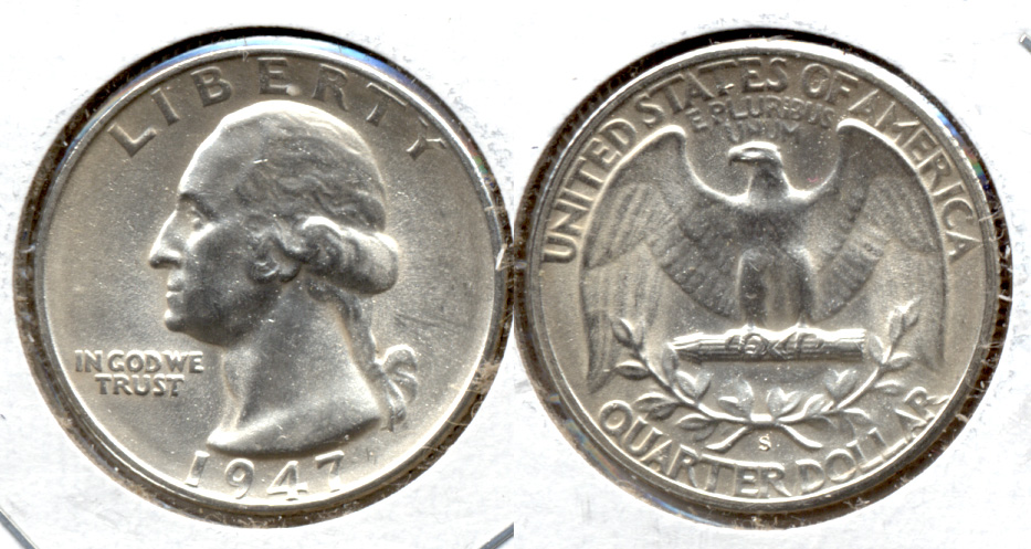 1947-S Washington Quarter MS-63 i
