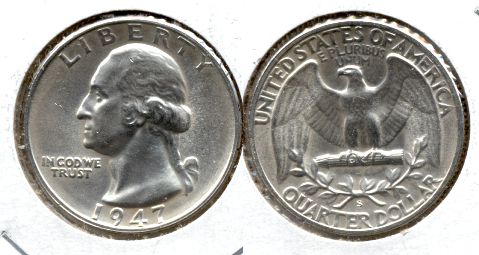 1947-S Washington Quarter MS-63 l