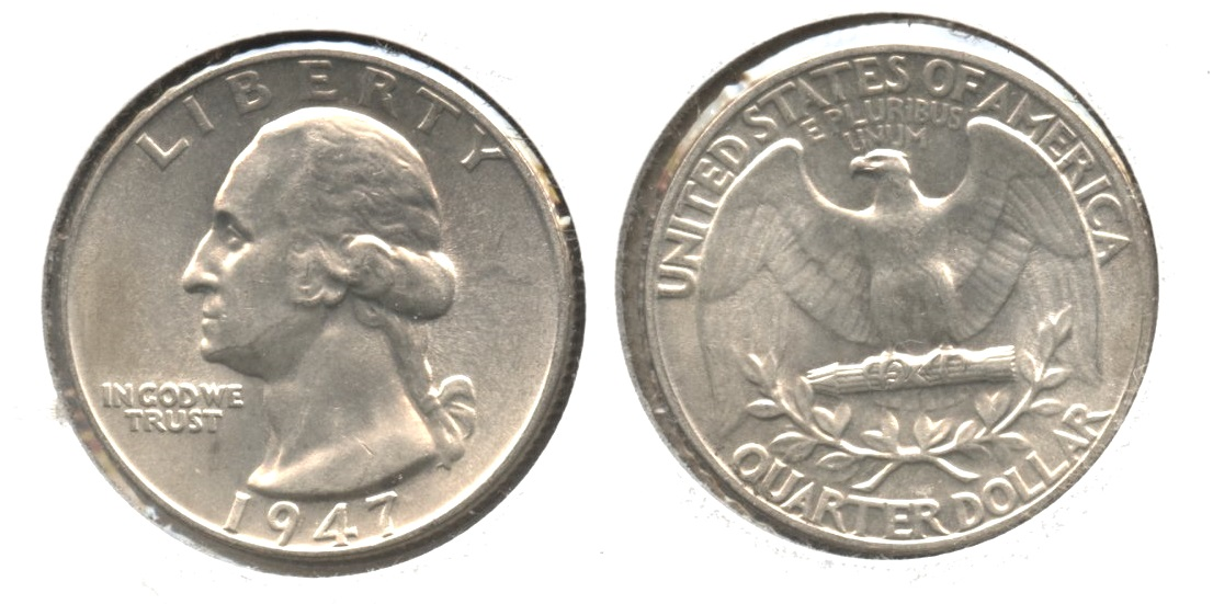 1947 Washington Quarter AU-50 #l