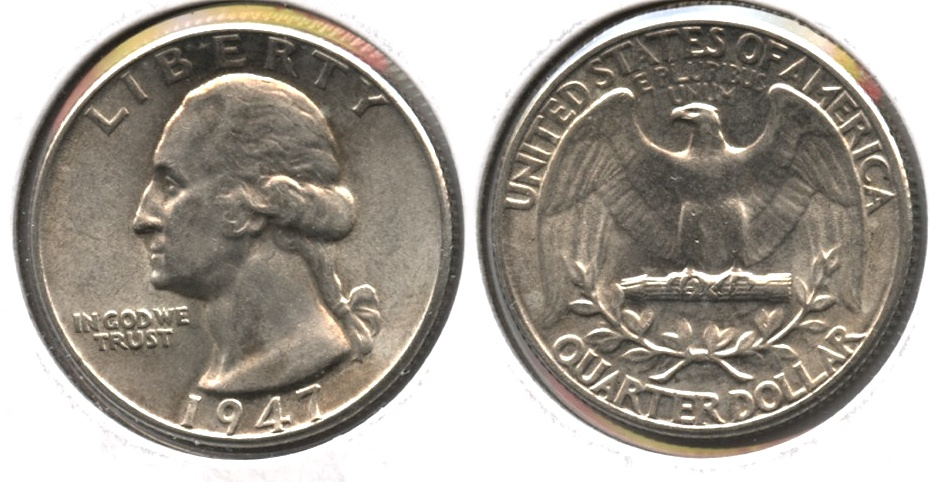 1947 Washington Quarter AU-55 g