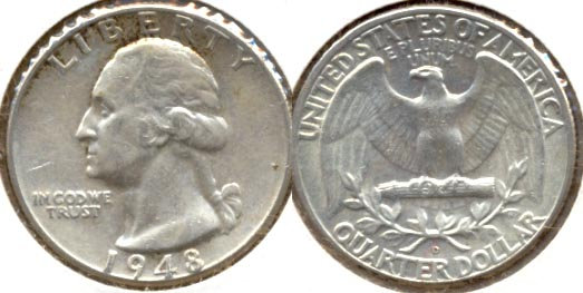 1948-D Washington Quarter AU-50