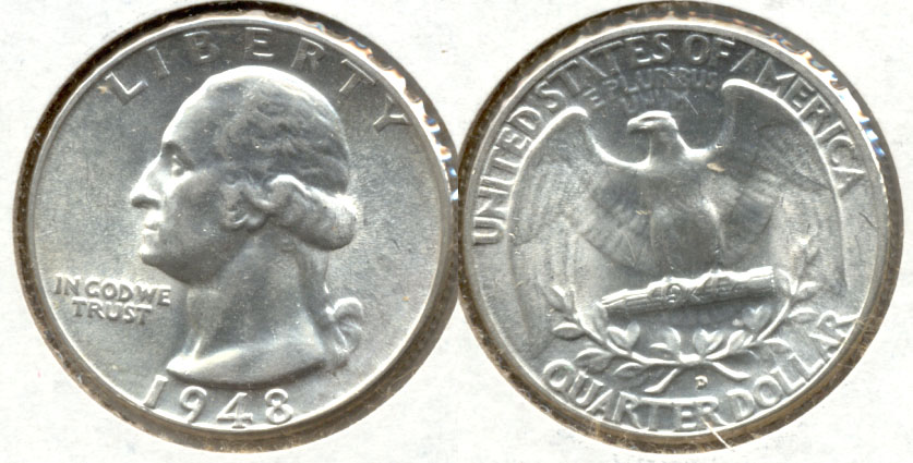 1948-D Washington Quarter MS-63