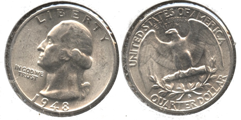 1948-S Washington Quarter MS-63 #f