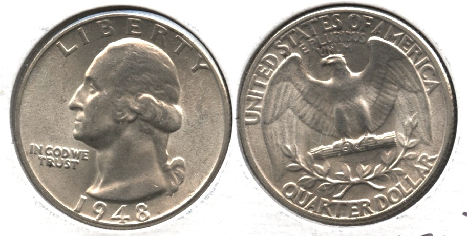 1948 Washington Quarter MS-64 #e