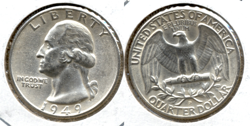 1949-D Washington Quarter MS-60 b