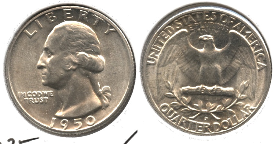 1950-D Washington Quarter MS-63 #b