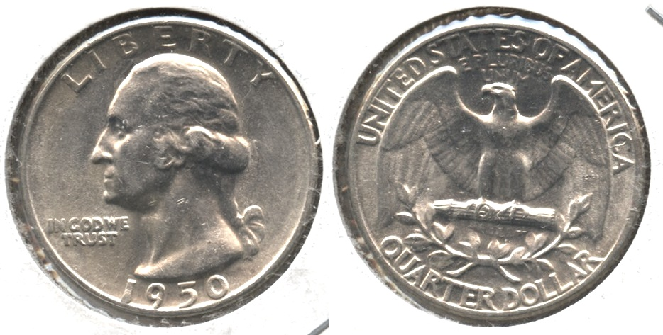 1950 Washington Quarter AU-50