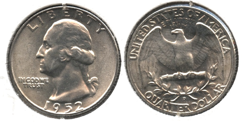 1952-D Washington Quarter MS-63 #e