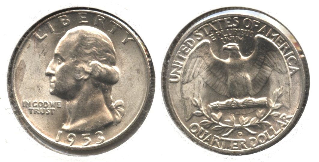 1953-D Washington Quarter MS-60 #b