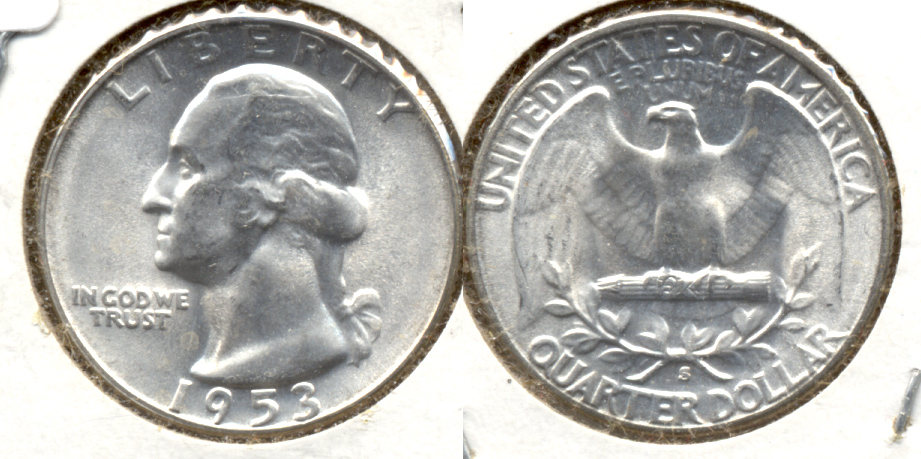 1953-S Washington Quarter MS-60 e