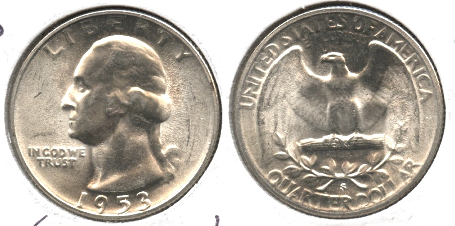 1953-S Washington Quarter MS-63 #c