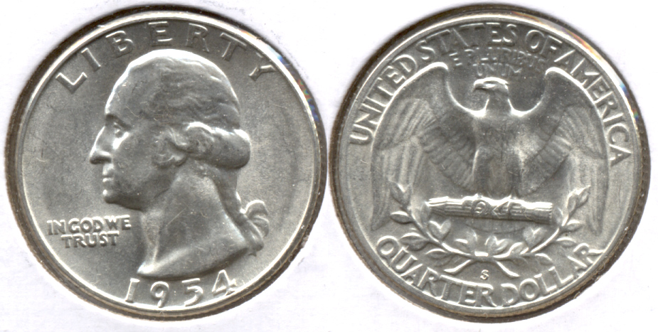 1954-S Washington Quarter MS-60 h