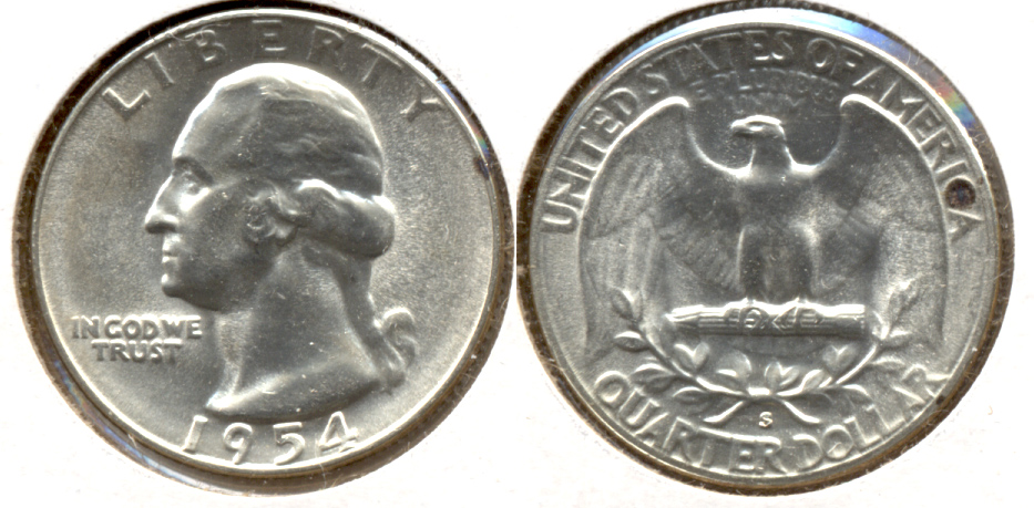 1954-S Washington Quarter MS-60 l