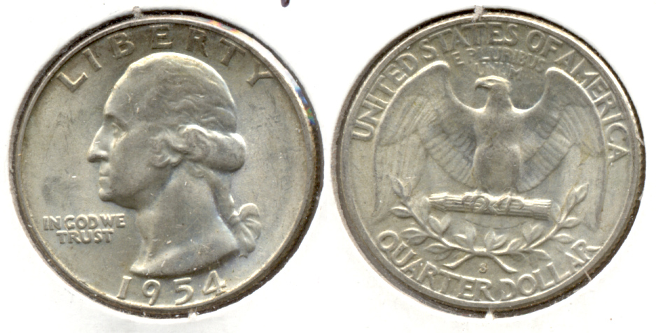 1954-S Washington Quarter MS-60 y