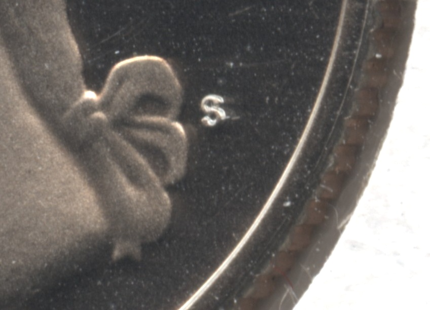 1979-S Type 2 Clear S Washington Quarter Proof close up