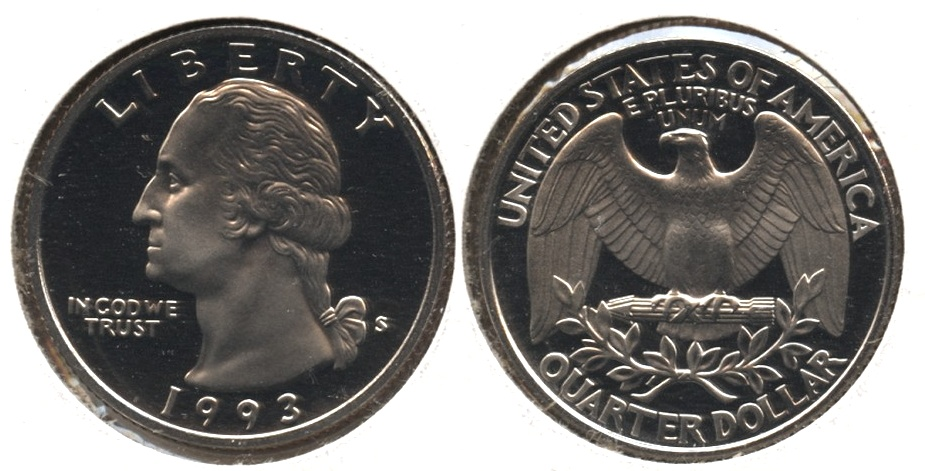1993-S Washington Quarter Clad Proof
