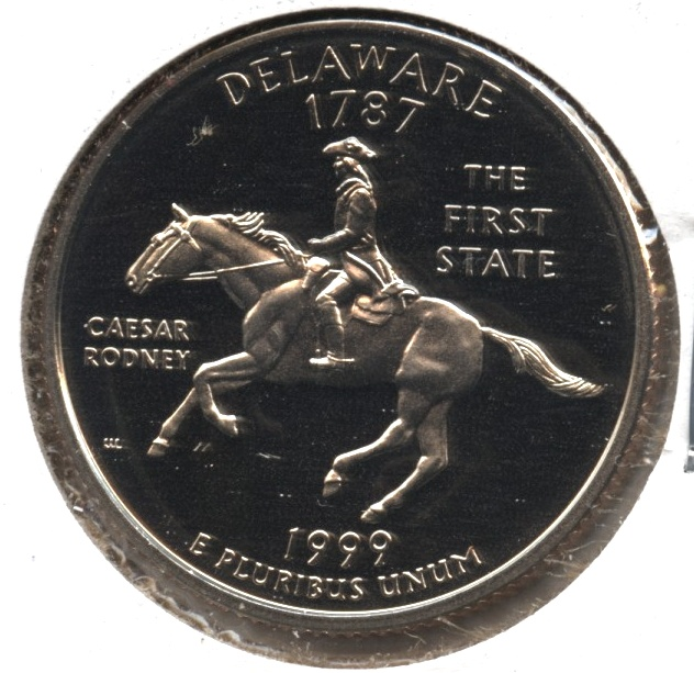 1999-S Delaware State Quarter Clad Proof