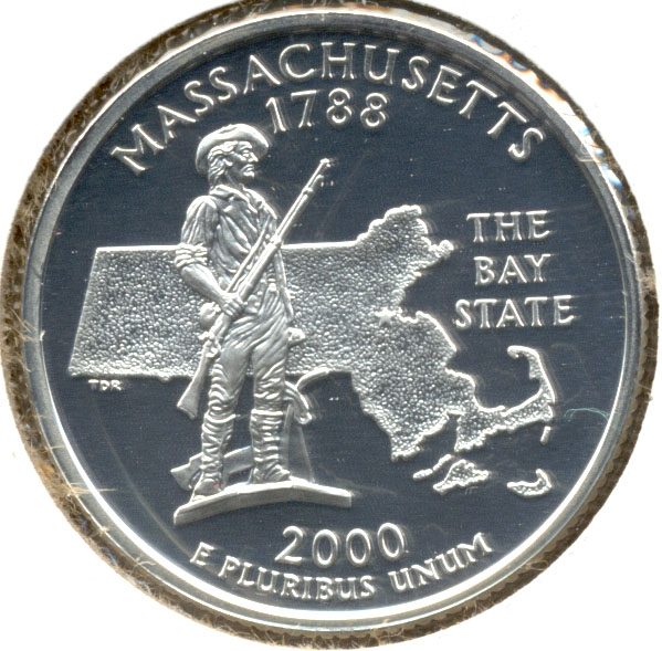 2000-S Massachusetts Quarter Silver Proof