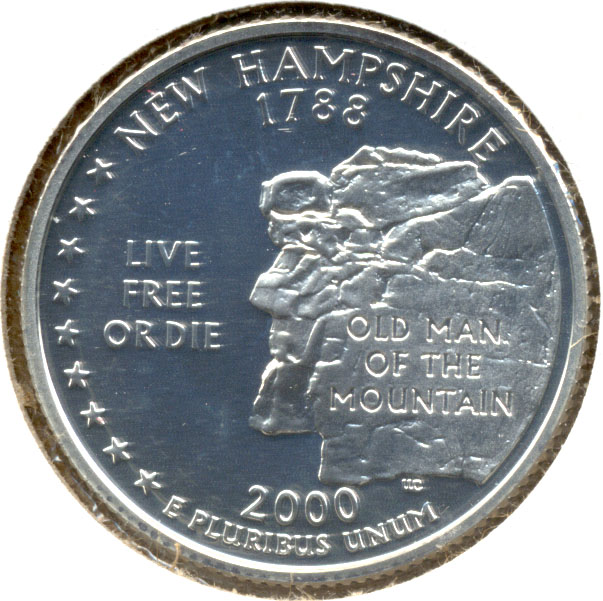 2000-S New Hampshire Quarter Silver Proof