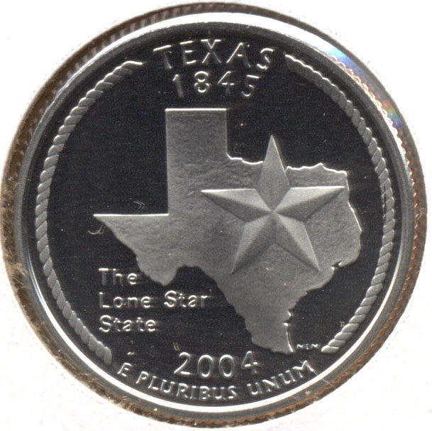 2004-S Texas State Quarter Clad Proof