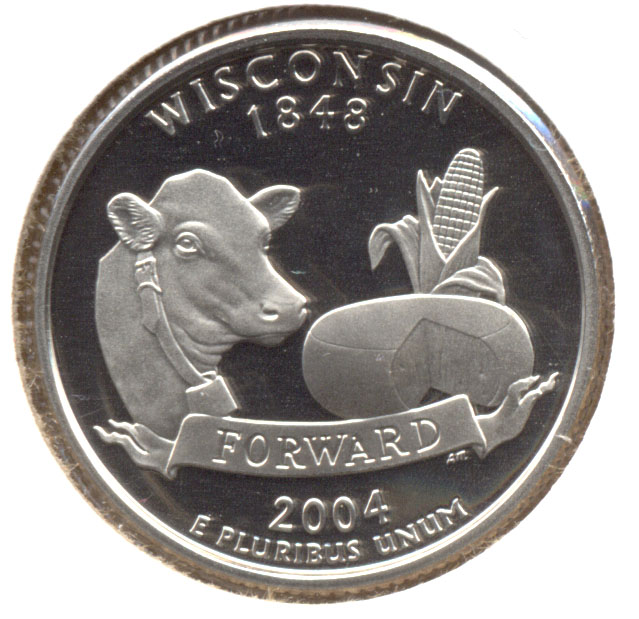 2004-S Wisconsin State Quarter Clad Proof
