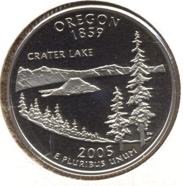 2005-S Oregon State Quarter Clad Proof