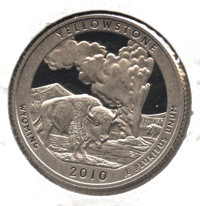2010-S Yellowstone National Parks Quarter Clad Proof