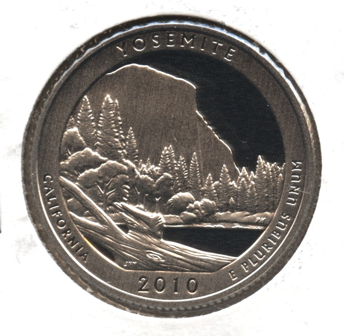 2010-S Yosemite National Parks Quarter Clad Proof