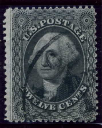 Scott 36 Washington 12 Cent Stamp Black Type 1
