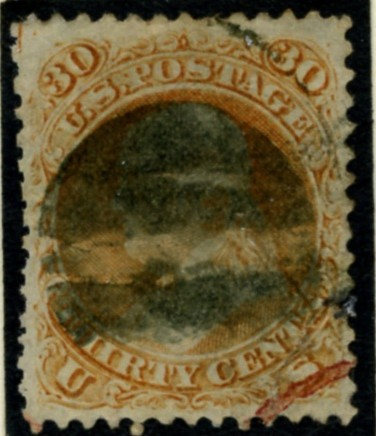 Scott 71 Franklin 30 Cents Stamp Orange
