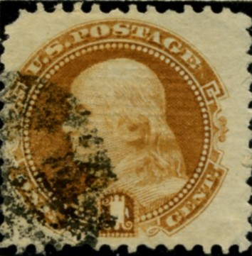 Scott 112 Franklin 1 Cent Stamp Buff