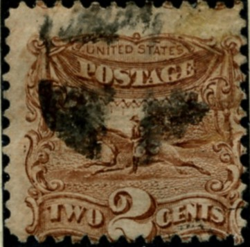 Scott 113 Horse and Rider 2 Cent Stamp Brown