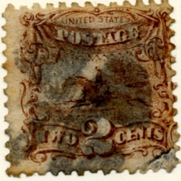 Scott 113 Horse and Rider 2 Cent Stamp Brown a