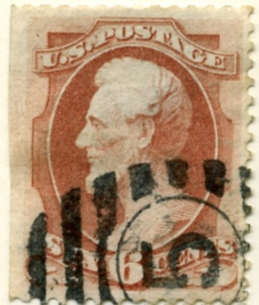 Scott 159 Lincoln 6 Cent Stamp Carmine Continental Bank Note Co b