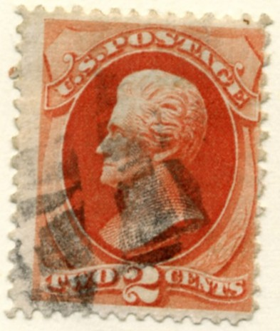 Scott 178 2 Cent Stamp Vermillion a