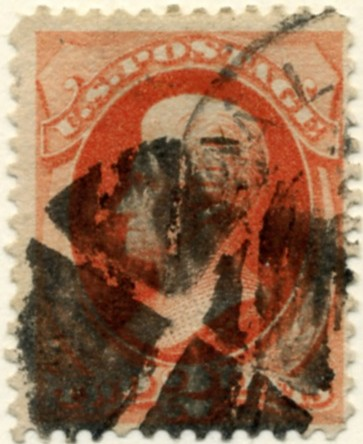 Scott 178 2 Cent Stamp Vermillion b