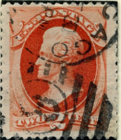 Scott 183 Jackson 2 Cent Stamp Vermillion