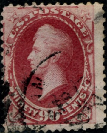 Scott 191 Perry 90 Cent Stamp Carmine