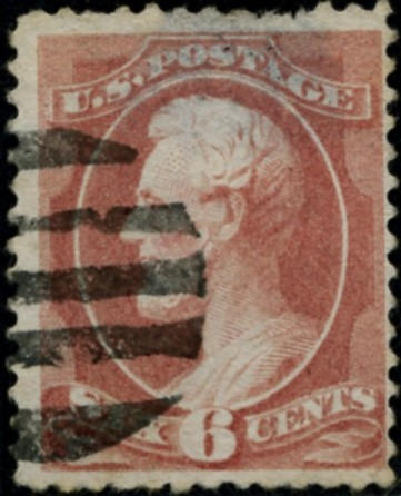 Scott 208 Lincoln 6 Cent Stamp Rose