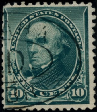 Scott 226 Webster 10 Cent Stamp Green