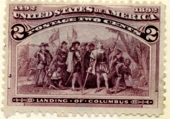 Scott 231 2 Cent Stamp Violet Columbian Exposition a