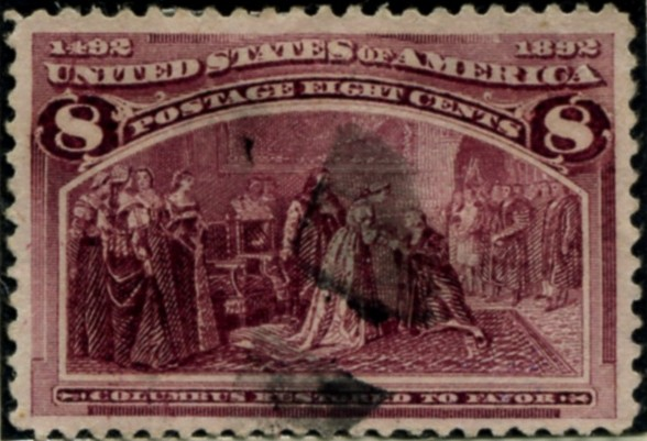 Scott 236 8 Cent Stamp Magenta Columbian Exposition